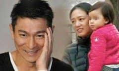 刘德华老婆,朱丽倩42岁穿婚纱女儿9岁像妈