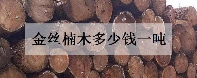金丝楠木多少钱一吨